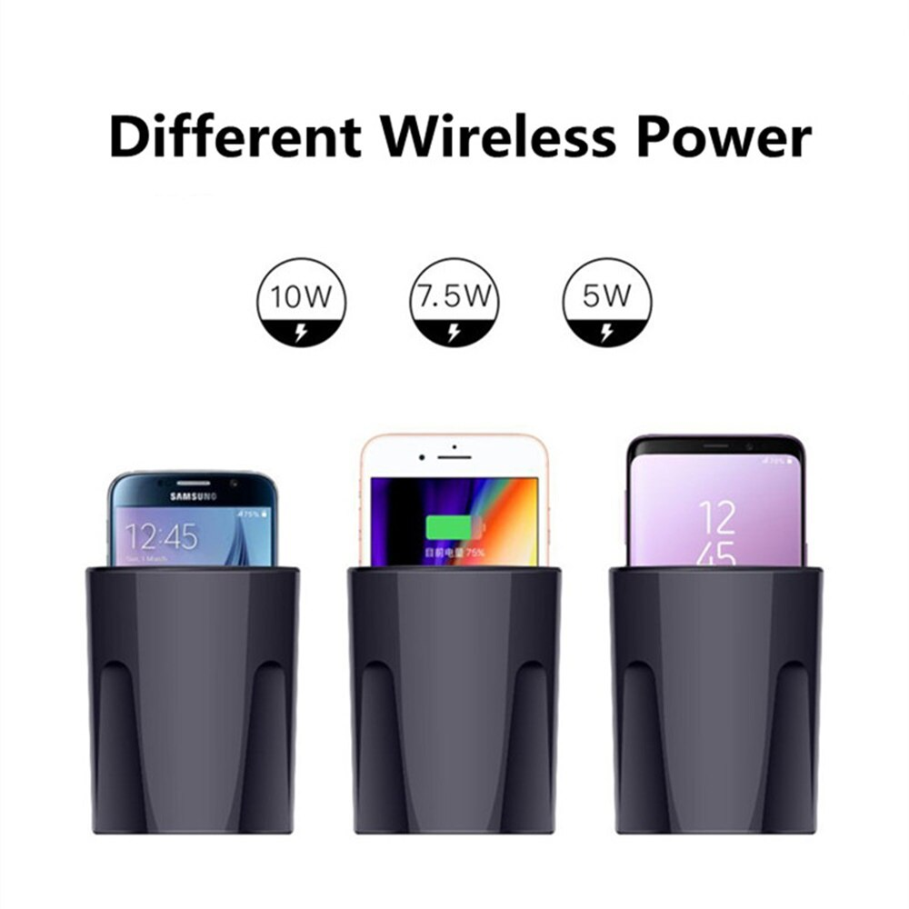X9 Qi Wireless Charger Car 10W Cup Holder Car Charger Stand Mount Cellphones,Airpods,iPad etc