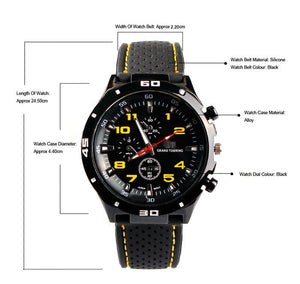 Grand Touring GT Watch Silicone Racing Men Sports Watch