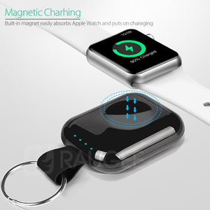700mah Portable Travel QI Wireless Charging Power Bank For Apple Watch 1 2 3 4