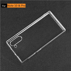 Soft silicone clear transparent coque for Samsung Note10 & Note10+