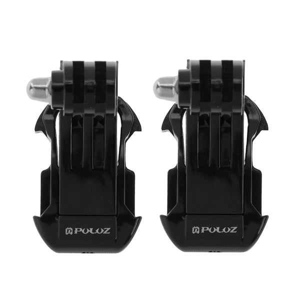 PULUZ 2pcs Black Vertical Surface J-Hook Buckle Mount for Gopro SJCAM Xiaomi Yi Action Camera
