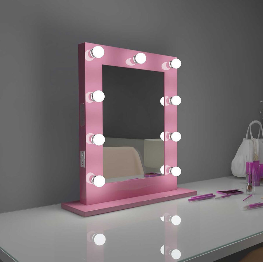 20x26 pink bluetooth marilyn hollywood lighted mirror backlit