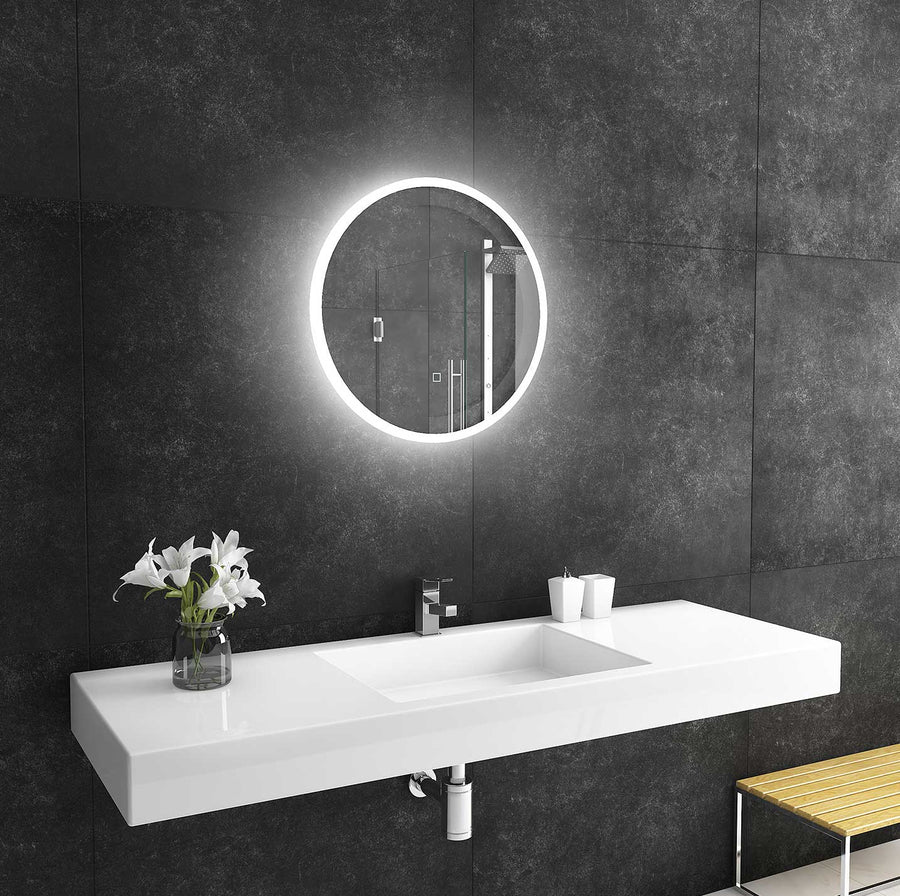 24x24 reflection round lighted mirror backlit