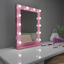 Load image into Gallery viewer, 24x32 pink bluetooth marilyn hollywood lighted mirror backlit