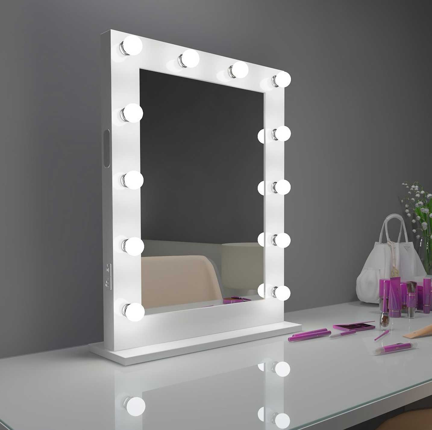 24x32 white bluetooth marilyn hollywood lighted mirror backlit