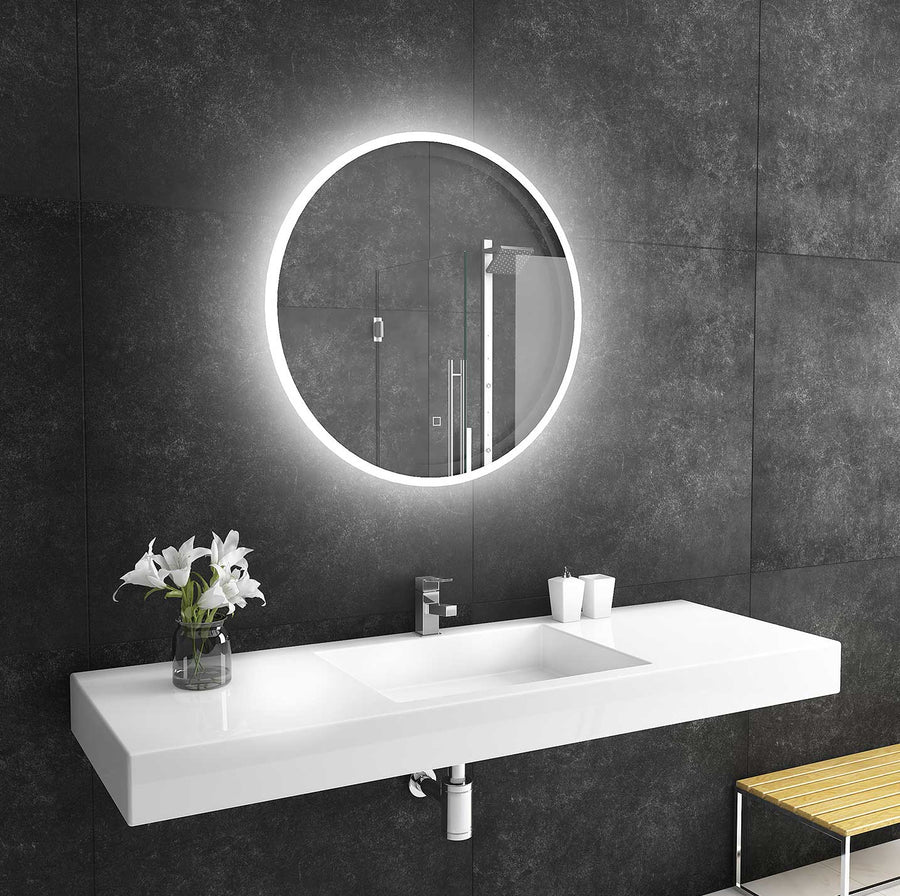 32x32 reflection round lighted mirror backlit