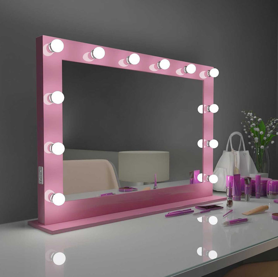 40x28 pink bluetooth marilyn hollywood lighted mirror backlit