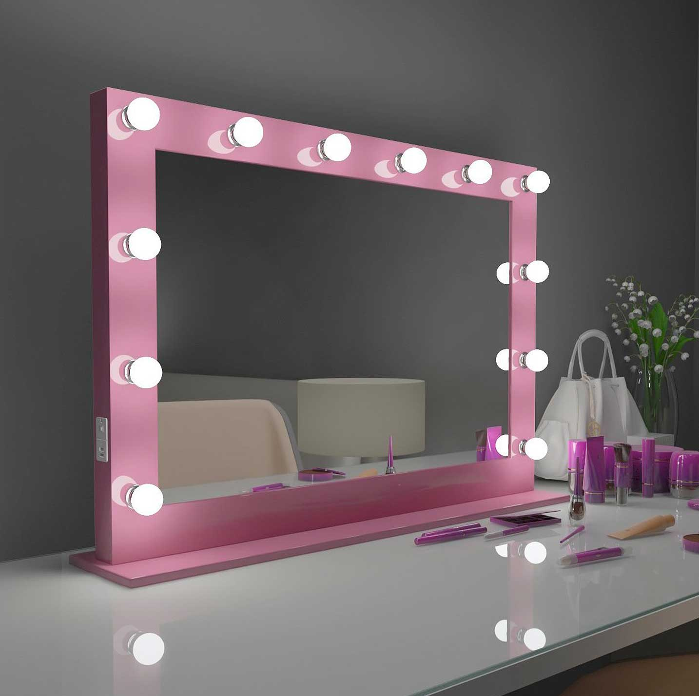 40x28 pink marilyn hollywood lighted mirror backlit