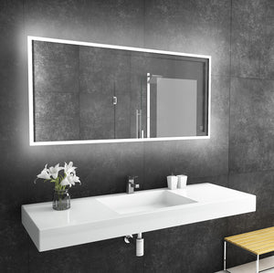 60x28 reflection rectangle lighted mirror backlit