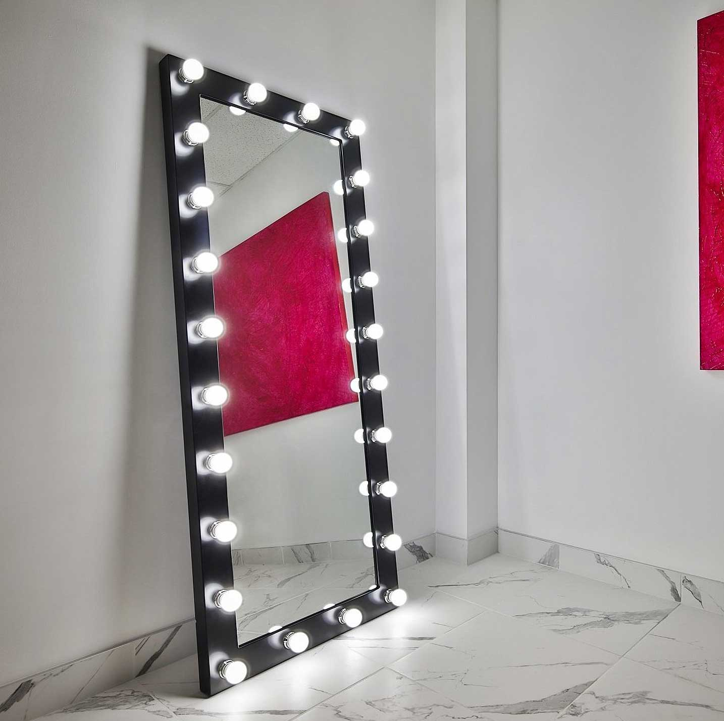 70x28 black elizabeth rectangle hollywood mirror