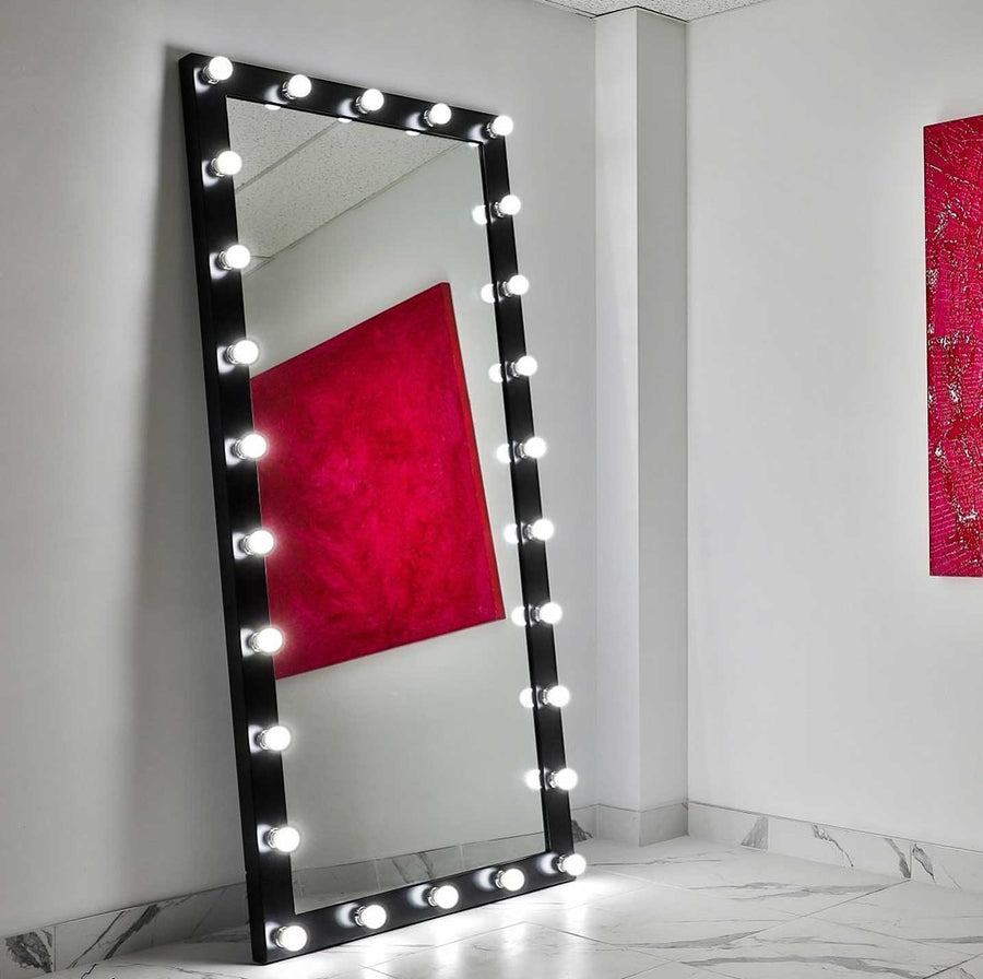 85x40 black elizabeth rectangle hollywood mirror