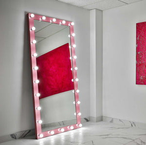 85x40 pink elizabeth rectangle hollywood mirror