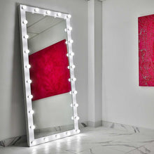 Load image into Gallery viewer, 85x40 white elizabeth rectangle hollywood mirror
