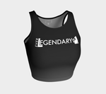 Athletic Crop Top | Black to Grey - EverLegendary athletic Wear For Yoga, Weight Lifting, & BJJ/Jiu Jitsu