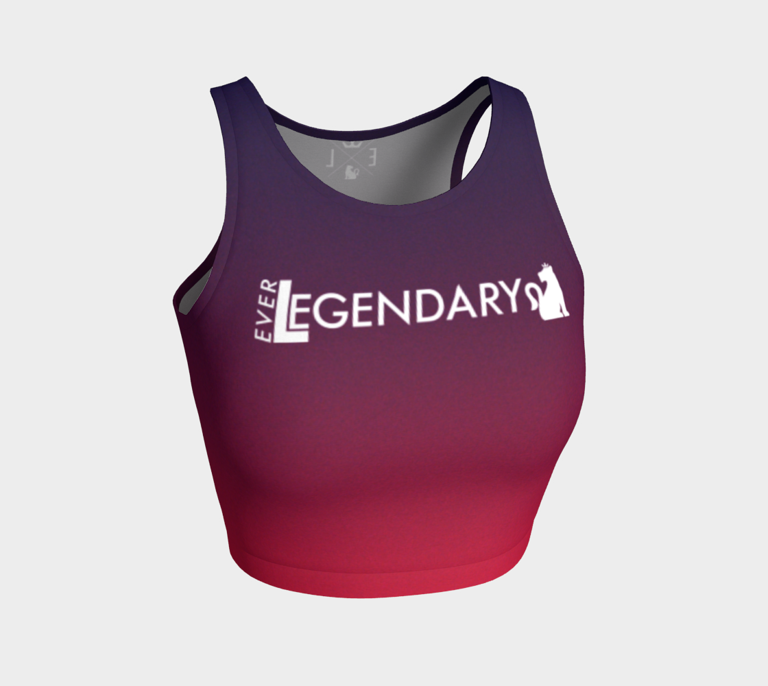 "Athletic Crop Top | ""Açaí Raspberry Sorbet"" - EverLegendary athletic Wear For Yoga, Weight Lifting, & BJJ/Jiu Jitsu"