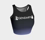 Athletic Crop Top | Black to Lavender - EverLegendary athletic Wear For Yoga, Weight Lifting, & BJJ/Jiu Jitsu
