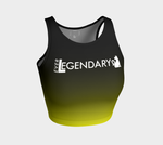 Athletic Crop Top | Black to Yellow - EverLegendary athletic Wear For Yoga, Weight Lifting, & BJJ/Jiu Jitsu