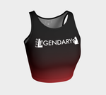 Athletic Crop Top | Black to Crimson - EverLegendary athletic Wear For Yoga, Weight Lifting, & BJJ/Jiu Jitsu