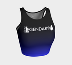 Athletic Crop Top | Black to Blue - EverLegendary athletic Wear For Yoga, Weight Lifting, & BJJ/Jiu Jitsu