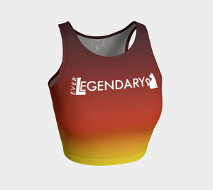 "Athletic Crop Top | ""Fire Dance"" - EverLegendary athletic Wear For Yoga, Weight Lifting, & BJJ/Jiu Jitsu"