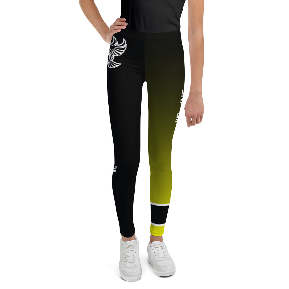 Rise Up BJJ Youth Leggings | Yellow Belt