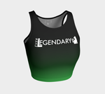 Athletic Crop Top | Black to Green - EverLegendary athletic Wear For Yoga, Weight Lifting, & BJJ/Jiu Jitsu