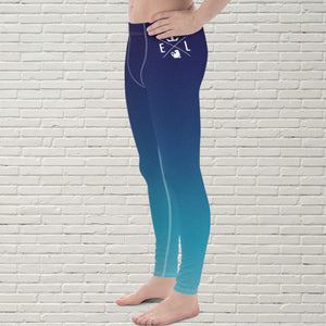 "Men's Color Melt Leggings | ""Ocean View"" - EverLegendary athletic Wear For Yoga, Weight Lifting, & BJJ/Jiu Jitsu"