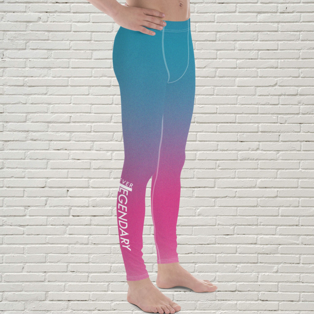"Men's Color Melt Leggings | ""Cotton Candy Smile"" - EverLegendary athletic Wear For Yoga, Weight Lifting, & BJJ/Jiu Jitsu"