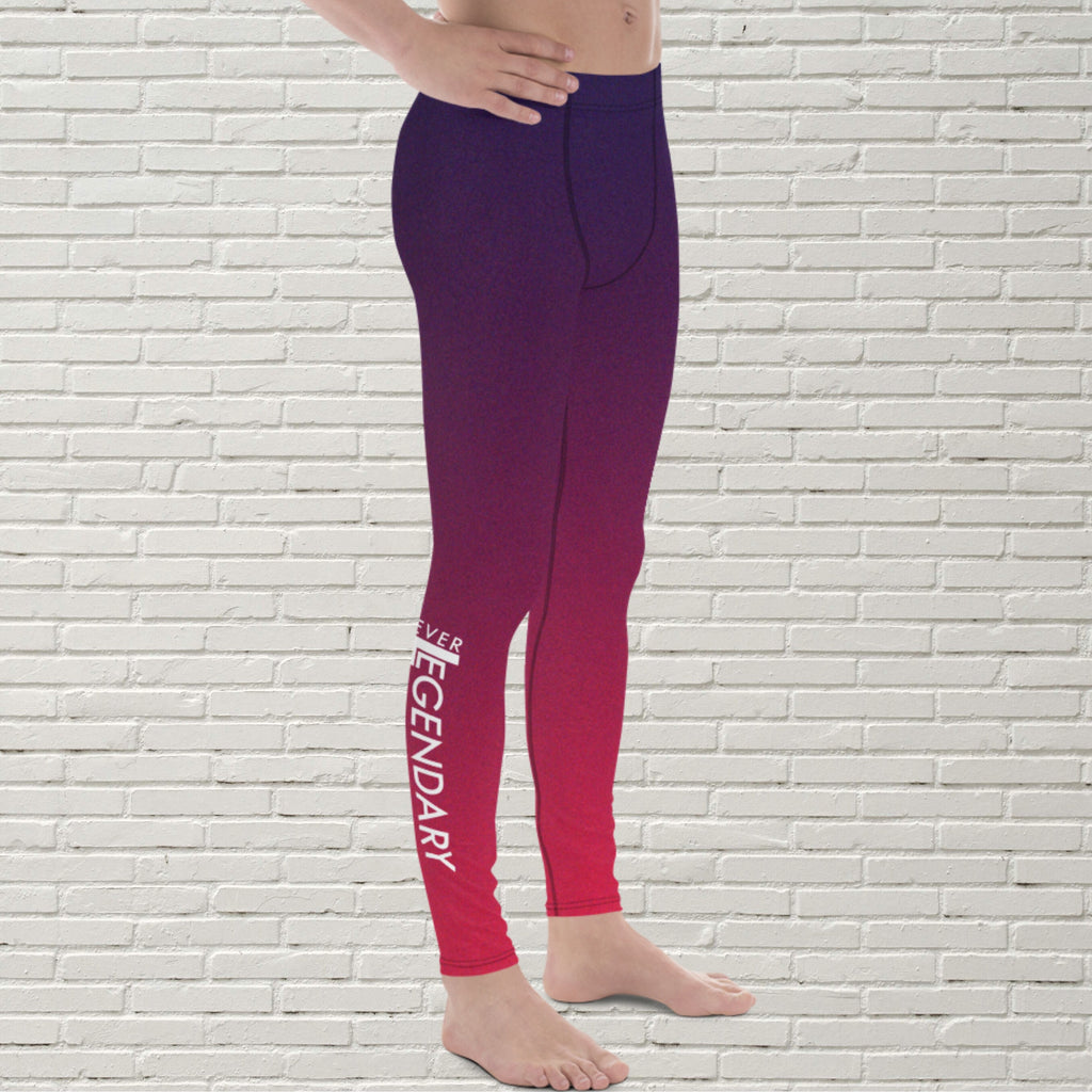 "Men's Color Melt Leggings | ""Açaí Raspberry Sorbet"" - EverLegendary athletic Wear For Yoga, Weight Lifting, & BJJ/Jiu Jitsu"
