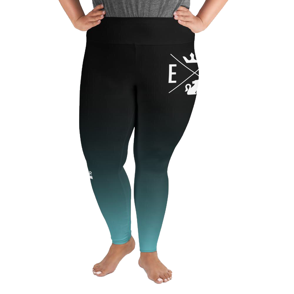 Color Fade Leggings | Women's Plus Size | 6 Color Choices - EverLegendary athletic Wear For Yoga, Weight Lifting, & BJJ/Jiu Jitsu