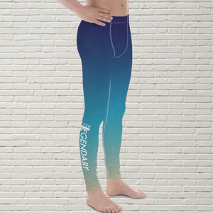 "Men's Color Melt Leggings | ""Sea Side"" - EverLegendary athletic Wear For Yoga, Weight Lifting, & BJJ/Jiu Jitsu"