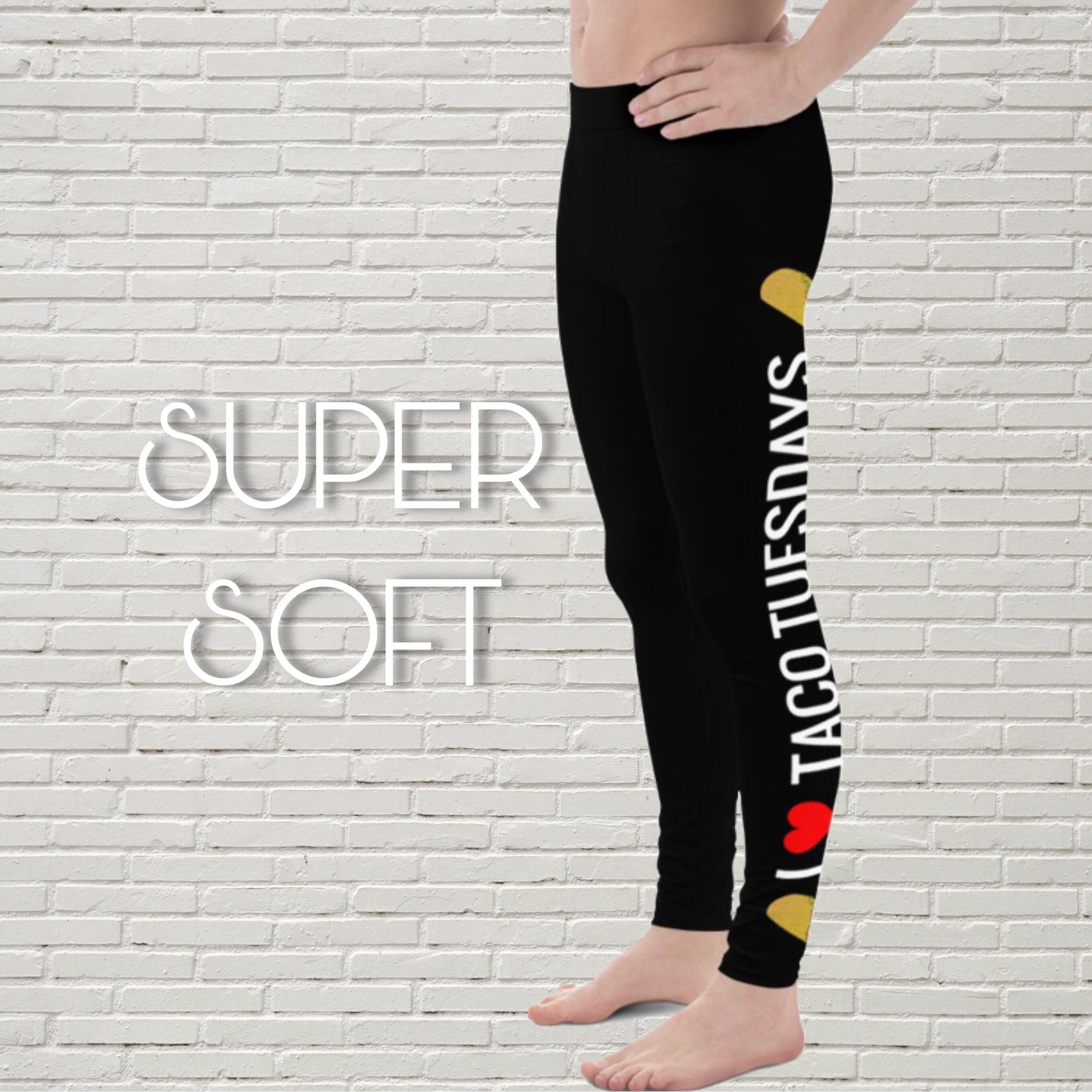"Men's Foodie Leggings | ""I Heart Taco Tuesdays"" - EverLegendary athletic Wear For Yoga, Weight Lifting, & BJJ/Jiu Jitsu"