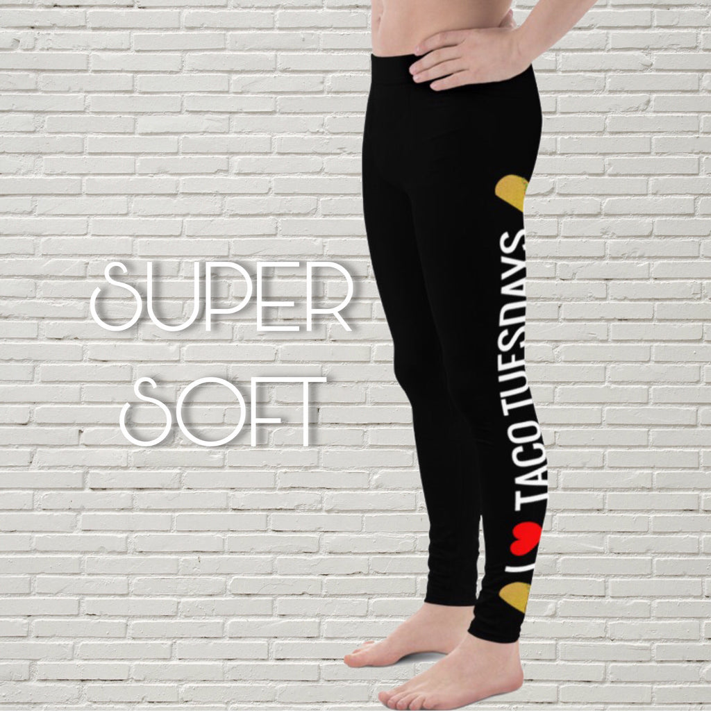 "Men's Foodie Leggings | ""I Heart Taco Tuesdays"""