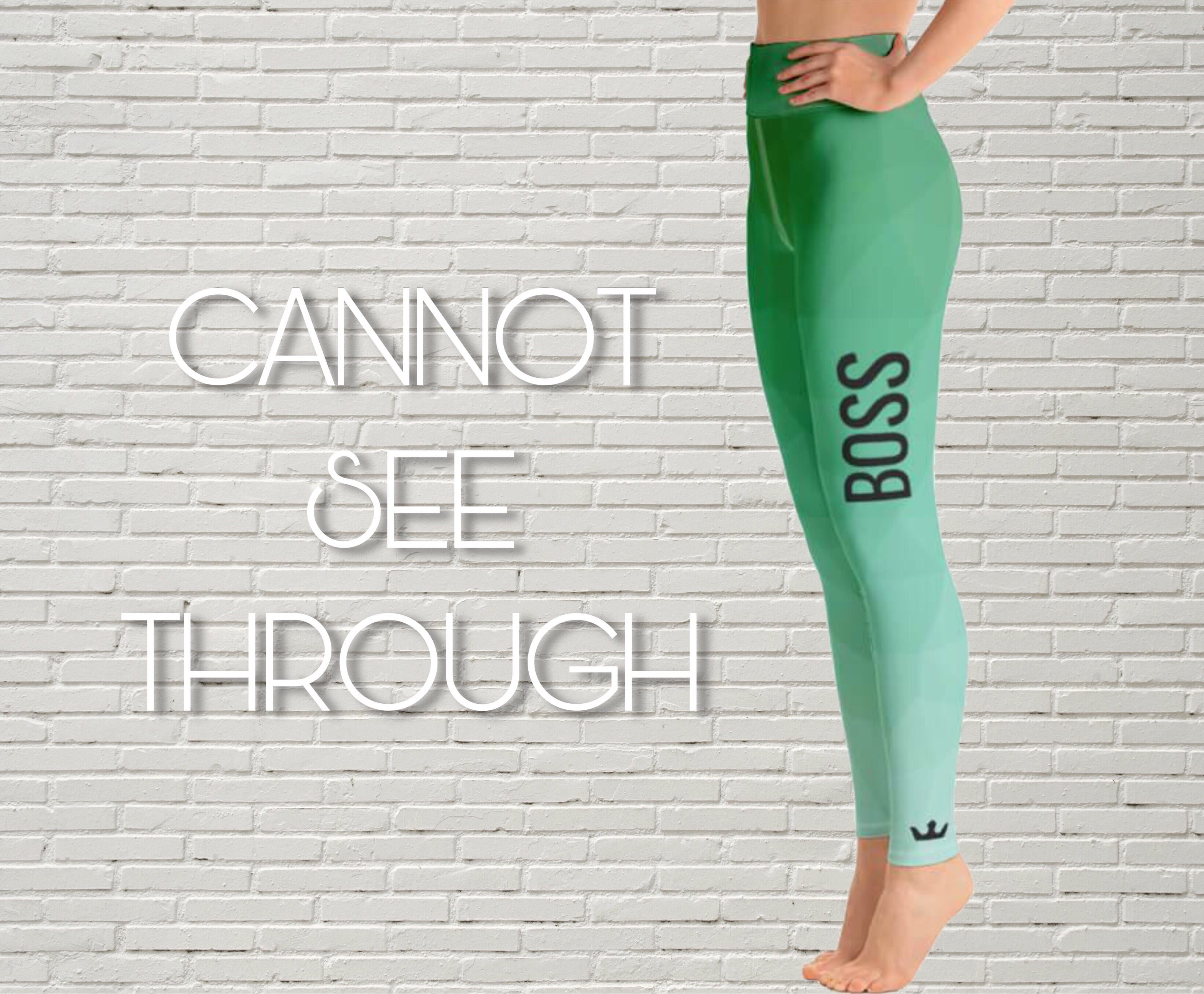 "Patterned Leggings | ""Boss"" - EverLegendary athletic Wear For Yoga, Weight Lifting, & BJJ/Jiu Jitsu"