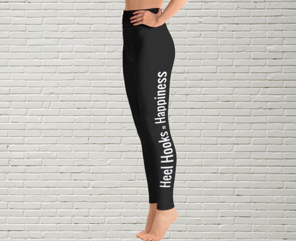 "Women's Leggings | ""Heel Hooks = Happiness"" - EverLegendary athletic Wear For Yoga, Weight Lifting, & BJJ/Jiu Jitsu"