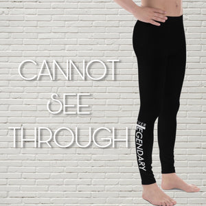 "Men's Leggings | ""Heel Hooks = Happiness"" - EverLegendary athletic Wear For Yoga, Weight Lifting, & BJJ/Jiu Jitsu"