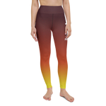 "Color Melt Leggings | ""Fire Dance"" 