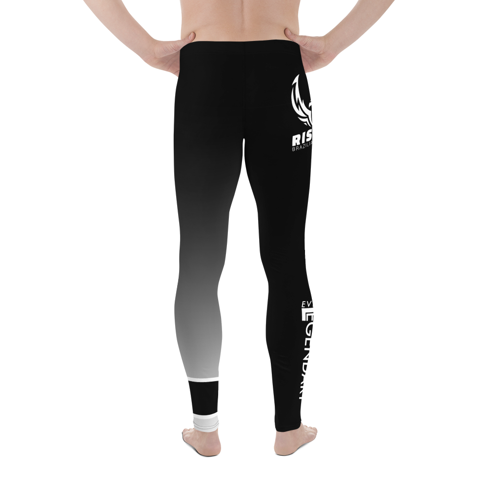 Rise Up BJJ Men's Leggings | White Belt - EverLegendary athletic Wear For Yoga, Weight Lifting, & BJJ/Jiu Jitsu