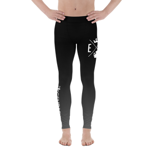 Color Fade Leggings | Men's | Black to Silver - EverLegendary athletic Wear For Yoga, Weight Lifting, & BJJ/Jiu Jitsu