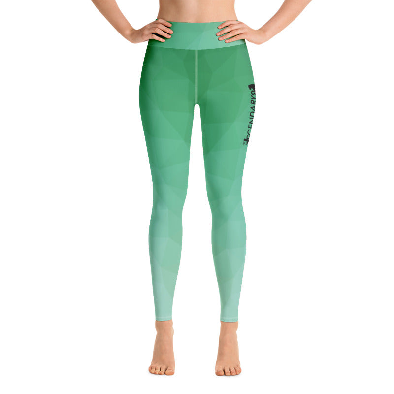 "Patterned Leggings | ""Feeling Green"" - EverLegendary athletic Wear For Yoga, Weight Lifting, & BJJ/Jiu Jitsu"