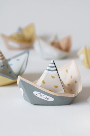 SEGEL - set of 6 origami paper boats