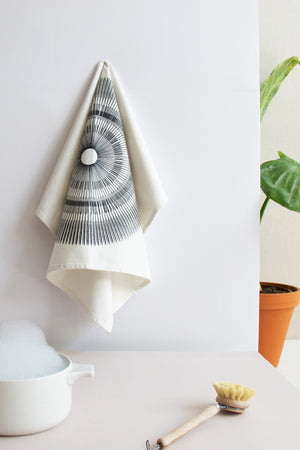 SPORE tea-towel