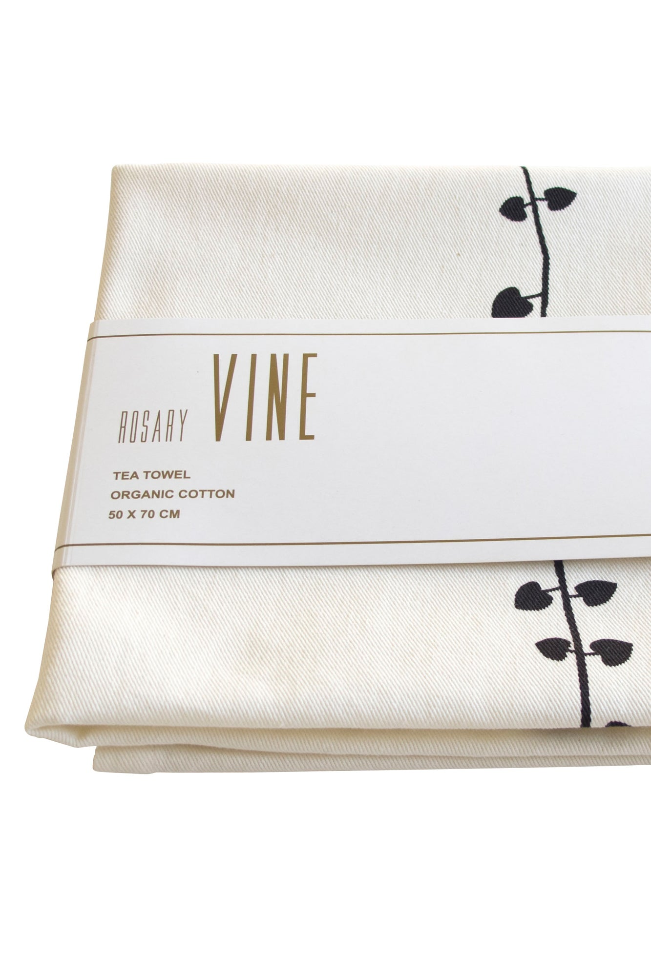 Fairtrade, organic cotton ROSARY VINE tea-towel
