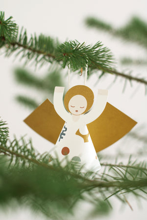 Mini DIY FRIDUR 2 paper angel decorations