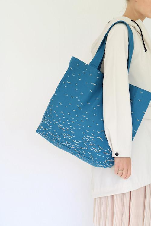 SKY large tote bag sky blue