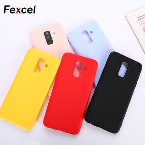 Fexcel Soft TPU Candy Phone Case For Samsung Galaxy A3 A5 A7 2017 J3 J5 J7 2016 J4 J6 2018 S6 S7 Edge A6 A8 S8 S9 Plus Note 8 9