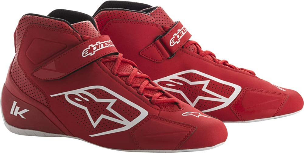 Alpinestars Tech 1 K Shoes- Red/White