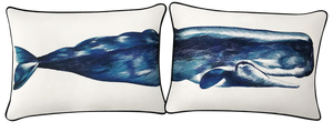Whale Pillow Cover Set