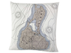 Block Island Nautical Map Pillow Cover