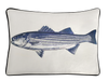 Striped Bass Pillow Cover